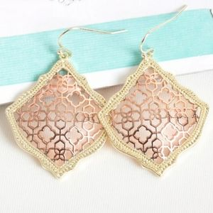 Kendra Scott Kirsten Rose Gold Drop Earrings. NWT